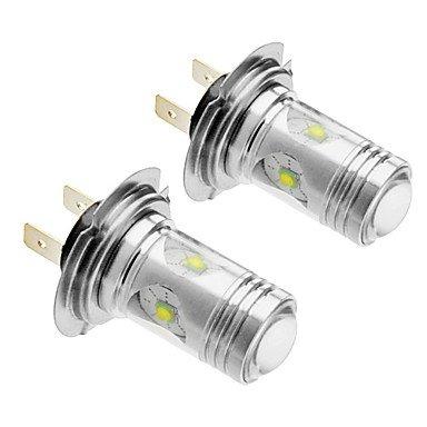 Rayshop - H7 25W Cree 1400Lm 5500-6500K Cool White Light Led Bulb For Car (12V-24V,2Pcs)