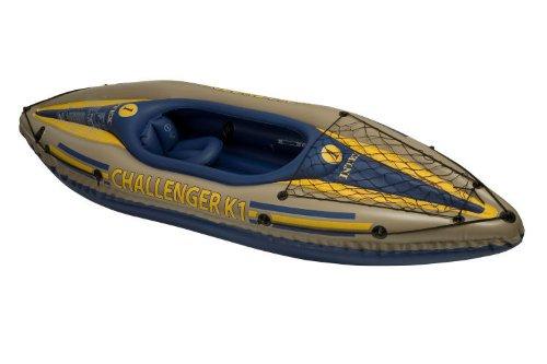 INTEX K1 CHALLENGER KAYAK 1 MAN INFLATABLE CANOE + OARS #68305