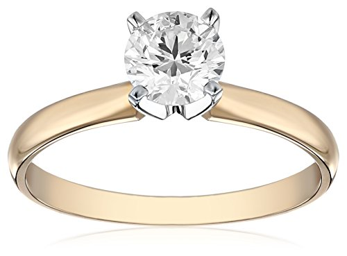 IGI-Certified-14k-White-Gold-Classic-Round-Cut-Diamond-Engagement-Ring-34-carat-H-I-Color-SI1-SI2-Clarity