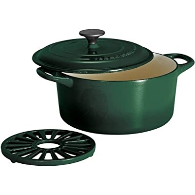 Tramontina 5.5-Quart Cast Iron Dutch Oven with Bonus Trivet, Color: Green