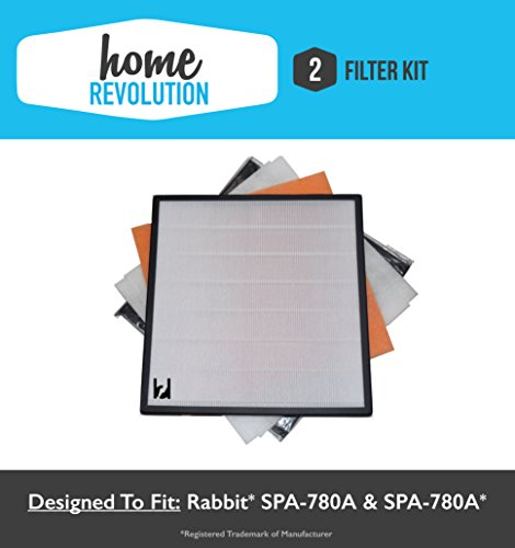 2 Rabbit Air Home Revolution Brand Replacement Air Minus A2 Filter Kit; Fits SPA-780A & SPA-780A