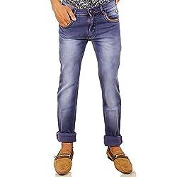 Hasasi Denim Men's Regular Fit Jeans - IBU30047-Jeans-Blue-30