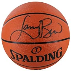 Larry Bird Autographed Hand Signed Indoor Outdoor Basketball Black sig (Boston... by Hall+of+Fame+Memorabilia