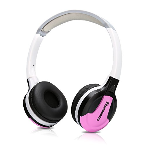 NAVISKAUTO-On-Ear-Kopfhrer-Leichtkopfhrer-Bgelkopfhrer-Headset-Headphone-mit-15M-Audiokabel-fr-Tragbarer-DVD-Player-Kopfsttzenmonitor-Stereo-Auto-Car-DVD-Multimedia-Audio-System-inkl-Lautstrkeregler-R