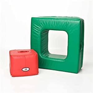 Foamnasium Square in Square, Green/Red
