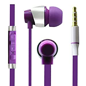 Hello Zone Sporty look and Comfort Fit Stereo Headset Handsfree Headphone Earphone with Mic 3.5 MM Jack for Acer beTouch E140 -Purple