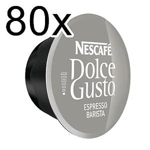 80 x Nescafé Dolce Gusto Espresso Barista, 80 Capsules