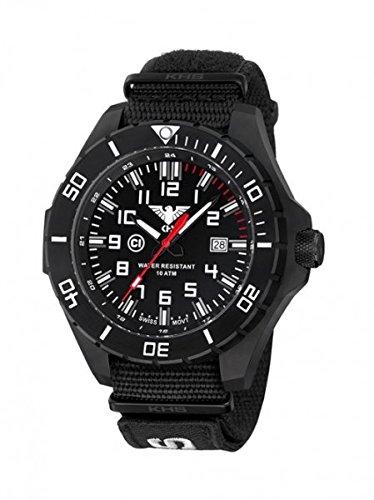 KHS Tactical orologio uomo Landleader Black Steel KHS.LANBS.NXT7