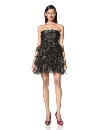 Jessica Simpson Women's Tiered Strapless Dress  - Black