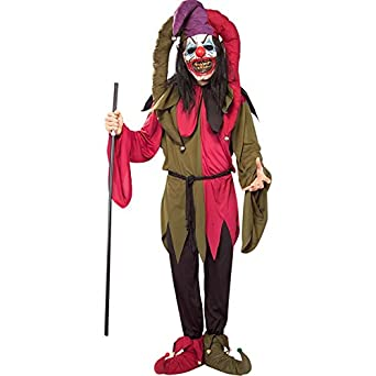 Adult's Scary Clown Jester Halloween Costume