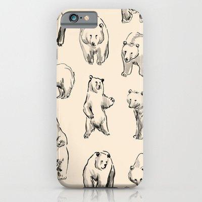 society6(ソサエティシックス) iPhone6(4.7インチ)ケースベアーズ Bears by Leah Reena Goren 並行輸入品