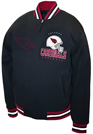NFL Mens Arizona Cardinals Hardknock Fleece Jacket by MTC Marketing, Inc