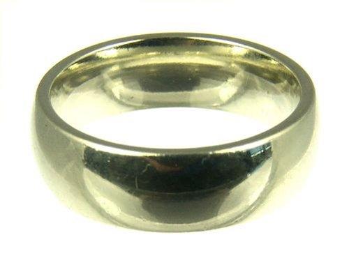 Kareco 9ct White Gold Ladies 6mm Medium Court Wedding Ring