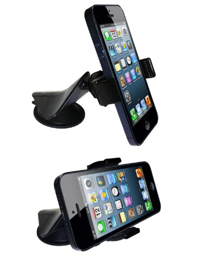 eHotCafe eC1-Blk Universal 2-in-1 Windshield Dashboard GEL Suction Car Mount Holder for Cell Phones - Retail Packaging - Black concept car universal windshield mount holder for iphone samsung cellphone black