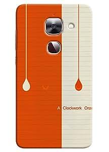 Omnam Orange And Cream Color On Paper Page Printed Designer Back Cover Case For LeTv Le2