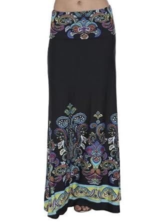Arden B. Women's St. Tropez Maxi Skirt L Multi Colored