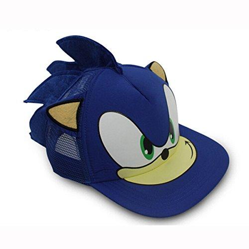 sonic-the-hedgehog-game-cosplay-baseball-hat-cap-ears-summer-sun-blue-adjustable