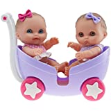 "Lil' Cutesies Twin Dolls in Pram 8.5"""