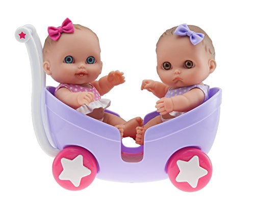 "Jc Toys 8.5"" Lil' Cutesies Twins In Stroller"