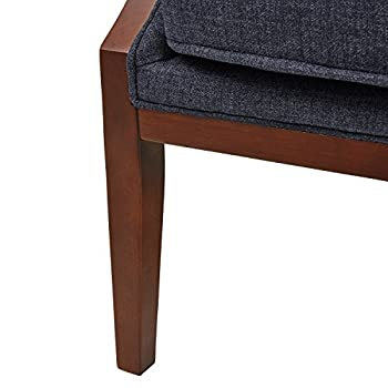 "Stone & Beam Ashbury Modern Exposed Wood Accent Chair, 29""W, Navy"