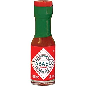 Tabasco Red Pepper Sauce Miniature Size 1/8 Oz. Ea. - Sold in Pack of 10 Bottles from McIlhenny Co