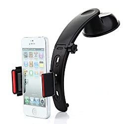 All-in-One Multipurpose Car Holder Kit with 360 degree Rotating Joint Black