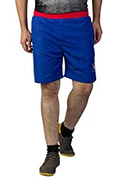Greenwich United Polo Club Men's Polyester Shorts (GUPC6_Dark Blue_Large)
