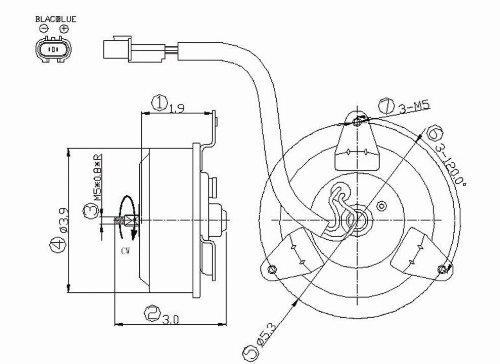Condenser Fan Motor For 1997-2004 Mitsubishi Montero Sport - 630680