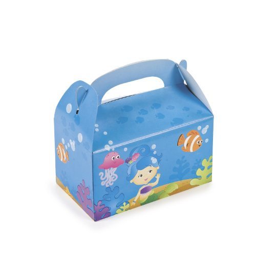 Mermaid Party Treat Boxes (1 dz) by Fun Express - 1