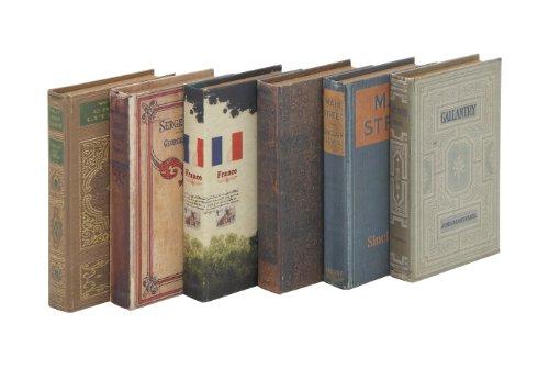 Benzara Unique and Adorable Book Boxes, Set of 6