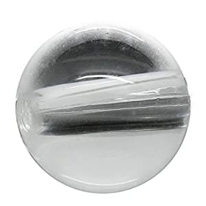 Housweety 30 Transparent Acryl Spacer Perlen Beads 18mm D.