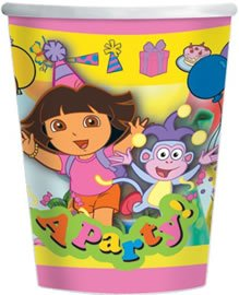 Dora The Explorer Party Cups (Pack Of 8)