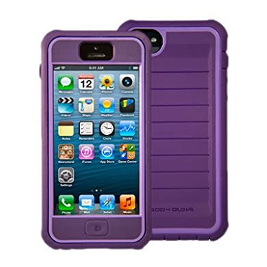 New Body Glove ShockSuit Case For Apple iPhone 5 Purple (New - Non Retail Packaging)