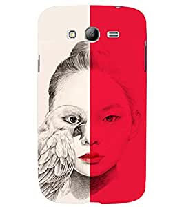 PRINTSWAG GIRL WITH EAGLE Designer Back Cover Case for SAMSUNG GALAXY GRAND NEO PLUS