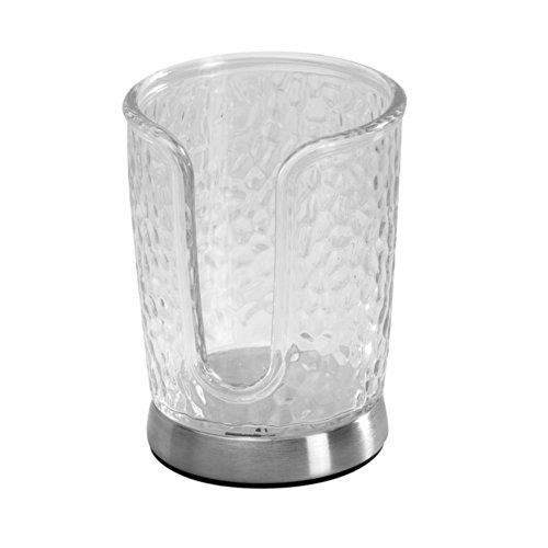 Interdesign Rain Disposable Cup Dispenser, Clear front-200403