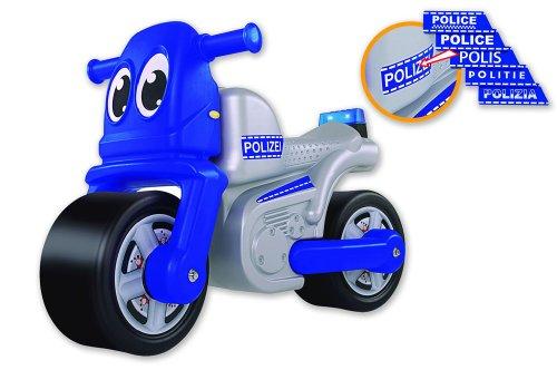 big bike polizei mit blaulicht und sirene bobbycarsrutscher. Black Bedroom Furniture Sets. Home Design Ideas