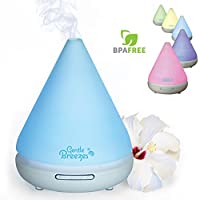 Gentle Breezes 120ml Aromatherapy Essential Oil Diffuser - Auto Shut-Off Portable Cool Mist Ultrasonic Aroma Humidifier with 7 Color Changing LED Lights - Best for Citrus Oils