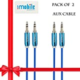 Universal Aux Cable,I Mobile 3.5mm Male To Male Stereo Audio Aux Cable For Car Stereos,MP3,iPhone,iPad,Samsung...
