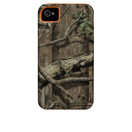 Case-Mate Mossy Oak Case with Orange Bumper for iPhone 4 - Break Up Infinity - Retail Packaging - Camouflauge