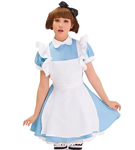 Simplicity Little Waitress Cosplay Dress w/ Ruffle Apron, Black Headband