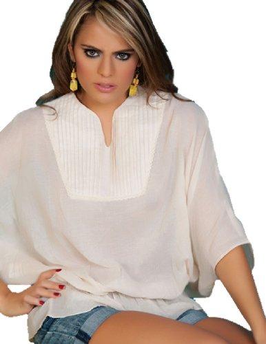 Ryocco Women'S 1293 Blouse - White/L