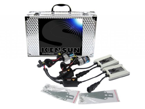 Kensun HID Xenon 55 Watt Conversion Kit With Slim Digital Ballasts for 9004 (HB1) Single-Beam - 4300K (Toyota Fielder Headlights compare prices)