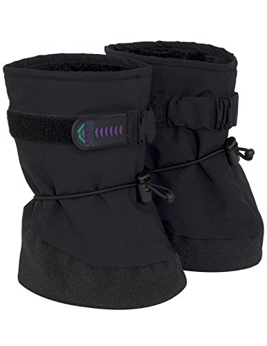 Molehill Infant Boot, Black (new strap), Small (Infant)