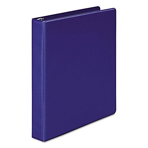Wilson Jones 3-Ring Binder, 1-Inch Ring Size, 11 x 8.5 Inches, Dark Blue, (W368-14NBL)