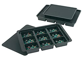 Protektive Pak PPK-27720 3 Piece 9 Cell  Plastic Kitting Tray Set with Lid