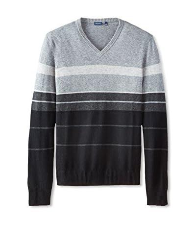 Thirty Five Kent Men's Wool/Cashmere Striped V-Neck