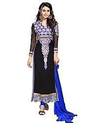 Black & Blue Shade Salwar Kameez