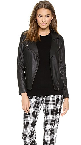 Bb Dakota Women'S Bettina Leather Jacket, Black, Medium