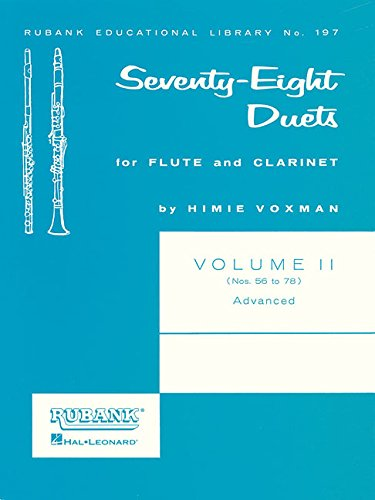78 Duets for Flute and Clarinet: Volume 2 - Advanced (Nos. 56-78)