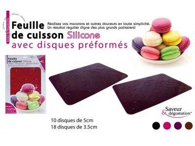 SAVEUR ET DEGUSTATION - Feuille de cuisson silicone pour macarons